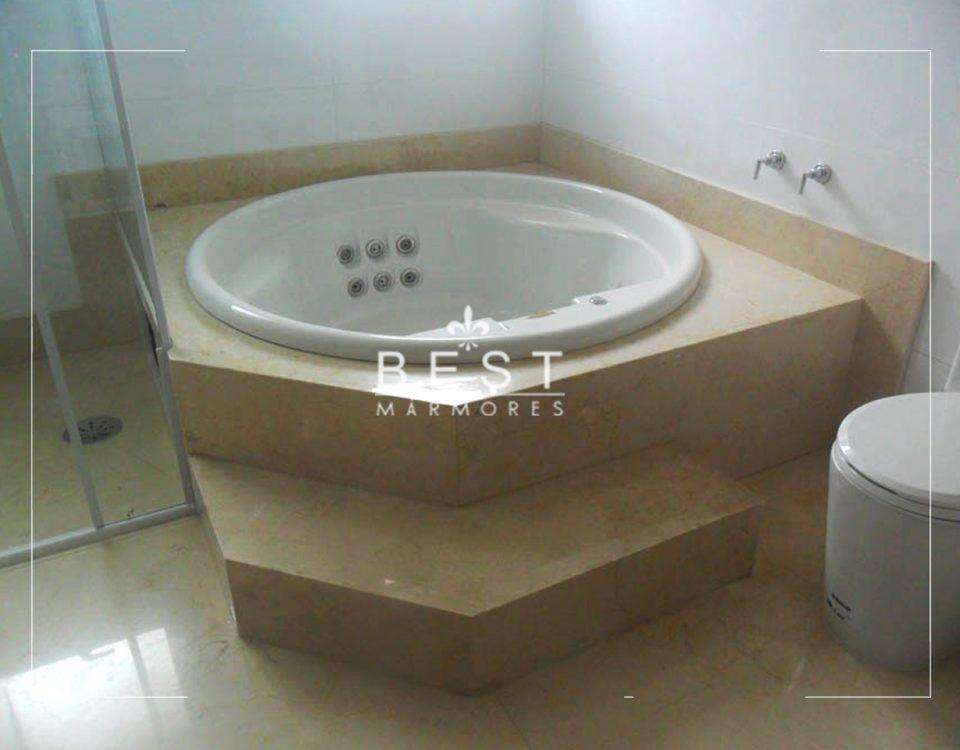 Banheira em Mármore Crema Marfil