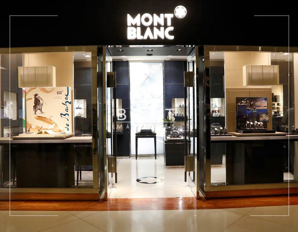 Fachada de loja Mont Blanc Iguatemi
